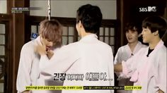 BTS A.R.M.Y Rookie King (2013) (Episode 4) V isn't ready for the kiss. J-Hope is kinda nervous, but is ready for it. VHope is about to be real XD (I made this gif)