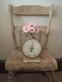 Pink vintage scale