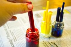 put one end of ink reservoirs into the rubbing alcohol