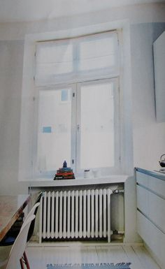 beautiful window, windowsill, radiator