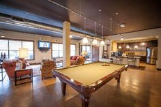 Billiard Room in the Ft. Worth Luxury Apartment Clubhouse | Avana at Western Center | Ft. Worth, TX