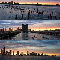 I chase sunsets @hudsonriverpark #10miles #newyorkcity #newyork #runner #running #runners #runnershigh #instarunner #instarunners #fitspo #excercise #wintersun #feelslikesummer #light #piers