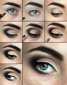 An eye makeup bringing your eyes a great shine and makes it bigger? Learn how to do eye makeup. Find 18 beautiful eye makeup ideas and Photos. Eye Makeup Steps, Smokey Eye Makeup, Makeup Tips, Hair Makeup, Makeup Ideas, Eyeshadow Makeup, Smokey Eyeshadow, Smokey Eys, Everyday Eyeshadow