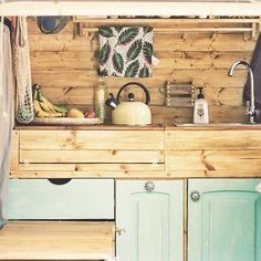 When we finally get her, Maggie Mk2 will have a similar interior to her predecessor. We're thinking of wide and a darker wood stain for the colour scheme but I guess this will probably change. We're going to stick with the same amount of storage but may look for a cooker with an oven.