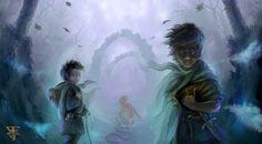 The journey to Mordor by Shockbolt in Tolkien's Middle-Earth Fan Art