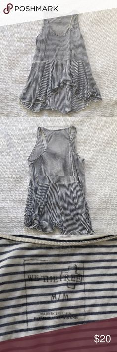 Free People Striped Tank Top Great condition! Free People Tops Tank Tops