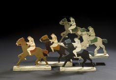 antique carnival racing game horses