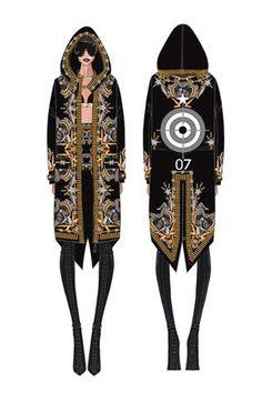 El vestuario couture de Rihanna.  La cantante viste Givenchy Alta Costura durante su gira Diamonds World Tour.
