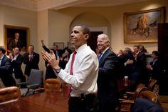Most iconic photos of obama s first term finally president barack obama vice president joe biden original