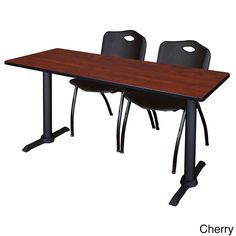 Regency Seating Cain Black 66-inch Training Table With 2 'M' Stack Chairs