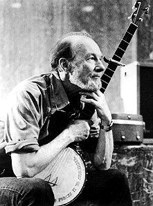 """I like to say I'm more conservative than Goldwater. He just wanted to turn the clock back to when there was no income tax. I want to turn the clock back to when people lived in small villages and took care of each other."" -Pete Seeger"