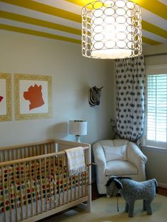 I'm totally painting stripes on the ceiling in my future nursery. :)