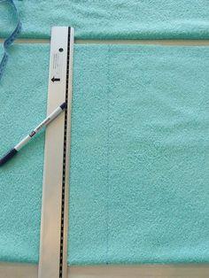 Frotteestoff zuschneiden Baby Sewing, Fabrics, Bathing, Tutorials