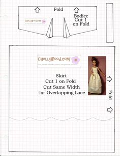 Yes, folks, this is a re-post for a lacy negligee that fits Barbie, Momoko, and I'm told it also fits Blythe (the doll) and Pullip dolls. I designed this night gown for Act III, Scene 5 in my…