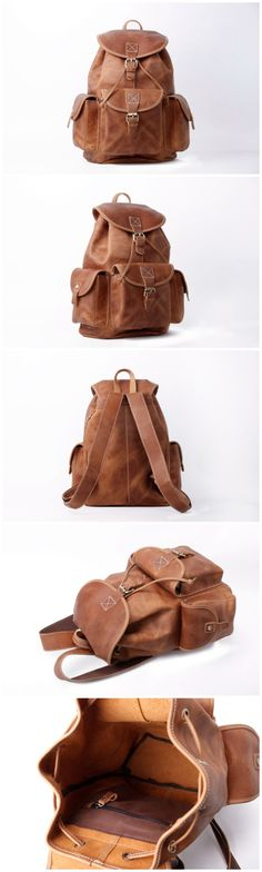 Leather Backpack, College Backpack ,School Backpack                                                                                                                                                      More