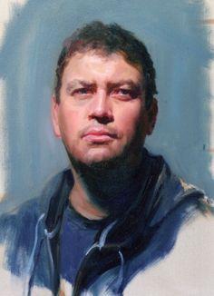 justin- alla prima portrait Artist Louis Smith
