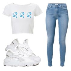 """."" by kierstinthesavage ❤ liked on Polyvore featuring NIKE"
