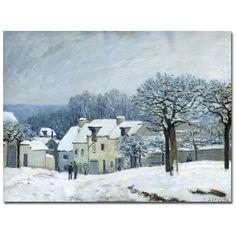 Alfred Sisley 'Place du Chenil Snow 1876' Canvas Art