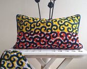 "20"" x 12"" African Lombard Pillow Cover, throw pillow, couch pillow, african homeware, decorative pillow, scatter pillow, scatter cushion,"