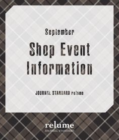 relume WEEKLY EVENT INFORMATION!!