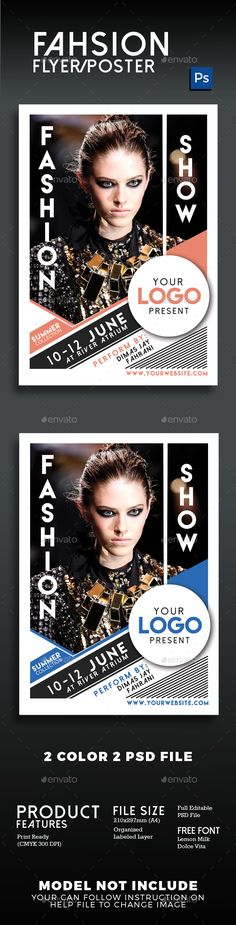 Fashion Show Flyer Poster Vol 2 — Photoshop PSD #fashion show #catwalk • Available here → https://graphicriver.net/item/fashion-show-flyer-poster-vol-2/16292512?ref=pxcr