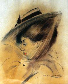Ramon Casas i Carbó - Retrato de Dama