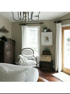 Vintage French Soul ~ Bedroom Cottage Farmhouse Country at home on SweetCreek French Country Bedrooms, Romantic Cottage, Bedroom Photos, Up House, Rustic Furniture, Decoration, Home And Living, Living Room, Cottage Farmhouse