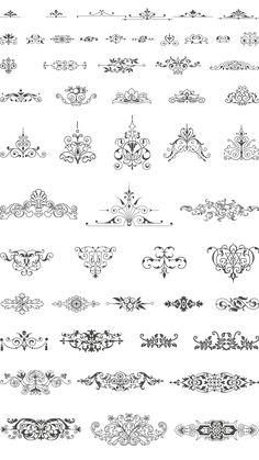 ornaments frames. vector art