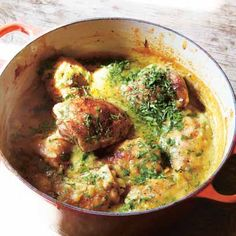 Hugh Fearnley Whittingstall's Chicken and lentils. Click the photo or go to redonline.co.uk for the recipe.