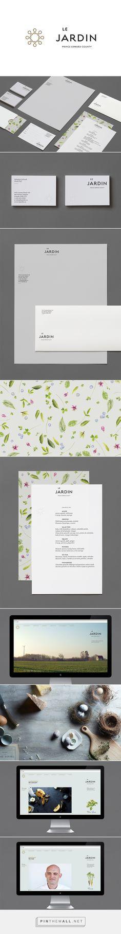 Le Jardin on Branding Served. Corporate Identity, Corporate Design, Visual Identity, Brand Identity, Logo Branding, Branding Design, Logo Design, Graphic Design, Logos