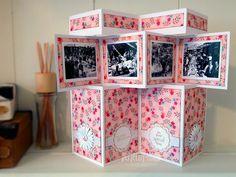 Al Fresco Accordion Card Tri Fold Cards, Fancy Fold Cards, Folded Cards, 3d Cards, Pop Up Cards, Cool Cards, Screen Cards, Mini Albums, Craftwork Cards