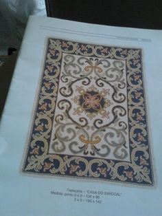 Casa do Sardoal 1,30x95 Cross Stitches, Rugs, Crafts, Decor, Punto Croce, Hand Crafts, Fabrics, Flowers, Farmhouse Rugs