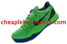 032b2247b9f Kobe 8 Shoes Elite Superhero Poison Green Black Blue Hyper Blue 586156 300 Kobe  8 Shoes