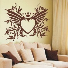 Szablon malarski - Serce   Paint template - Heart   24,99 PLN #paint #template #heart #bedroom_decor #home_decor #interior_decor #design
