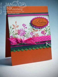Greeting Card  Birthday Wishes Floral for Wife by JanTink on Etsy, $5.95