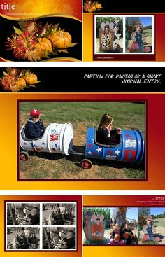 """After all, pie really is one of the greatest things about the fall season! """"Pumpkin Pie"""" is the perfect digital scrapbook layout to remind you the good food shared with wonderful family is the most special thing you can do once the leaves begin to change color and the air begins to chill."""