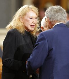 Joan Kennedy at Ted's funeral, August 29, 2009,