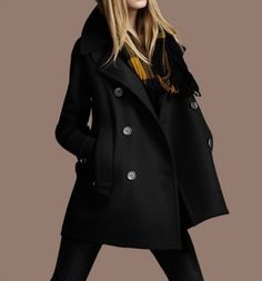 Black Cape Wool Coat Spring Woman Cloak Long Wool Coats Wool Cape Coat Jacket -WH051 S-XXL