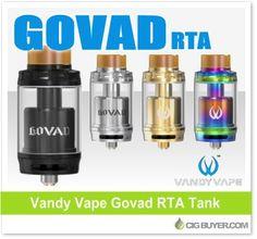 Vandy Vape Govad RTA Tank – $25.60: http://www.cigbuyer.com/vandy-vape-govad-rta-tank/ #ecigs #vaping #vandyvape #govadRTA #govad #rta #vapelife #vapedeals