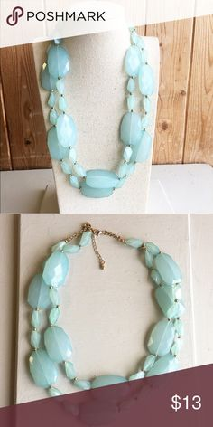 Cute necklace Cute vintage blue double strand necklace Jewelry Necklaces