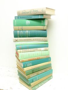 Hemlock,Green Apple,Books,Wedding, Aqua, Mint