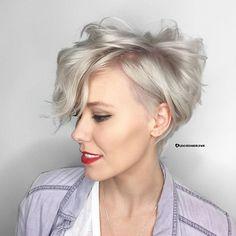Love me a platinum pixie I used goldwell 10v=20vol=h20 for over prelightened hair.  #behindthechair #btconeshot_haircut17  #bleachedandblown #parlourelevhn