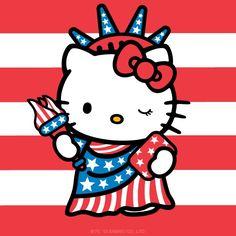 Hello Kitty ~ Happy Fourth of July!