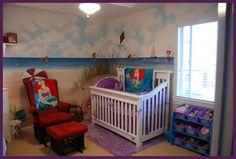 Little Mermaid nursery would be cute for  girl!