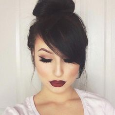 50 fresh hairstyle ideas with side bangs to shake your style Long Hair Styles With Layers Bangs Fresh Hairstyle Ideas shake Side Style Side Bangs Hairstyles, Frontal Hairstyles, Short Hair Bun, Long Hair With Bangs, Romantic Hairstyles, Trendy Hairstyles, Teenage Hairstyles, Gorgeous Hairstyles, Fashion Hairstyles