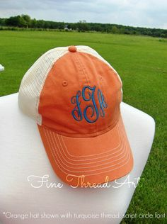 fed565d4831 SALE Ladies Monogram Mesh Back Baseball Cap Hat Mom Bridesmaid Bride  Bachelorette Summer Beach Hat Trucker Hat CLEARANCE