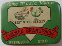 Chicken Gramophone Needles Tin