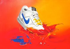 "Graffit / Airbrush "" Nike ""  Art by "" The Bee """