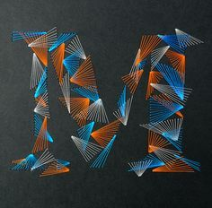 """Amazing weave typography made by French graphic design studio Zim and Zou"""