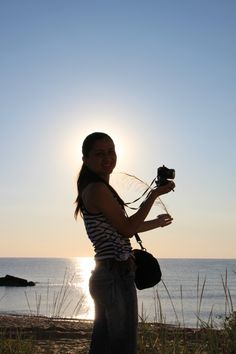 Amateur Woman Photographer on the Beach - Public Domain Photos, Free Images for Commercial Use Female Photographers, Public Domain, Free Images, Sunrise, Commercial, Photos, Pictures, Woman, Beach